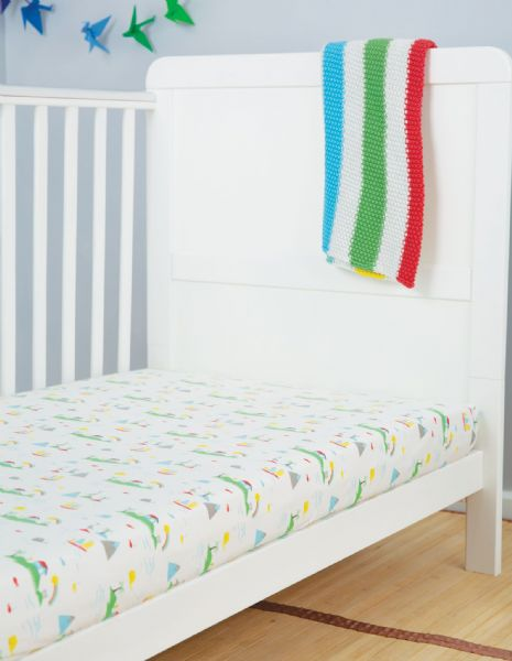 Frugi Island Life Cosy Cot Bed Sheets 2 pack